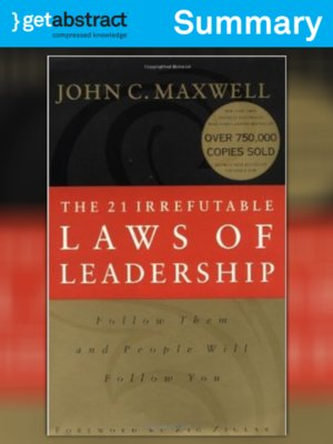 cover image of The 21 Irrefutable Laws of Leadership (Summary)