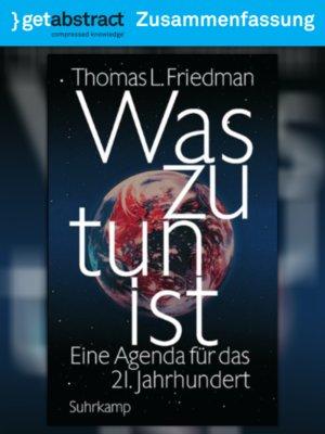 cover image of Was zu tun ist (Zusammenfassung)