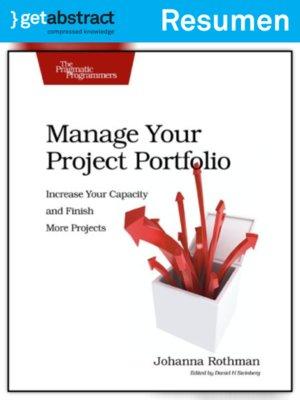 cover image of Administre su cartera de proyectos (resumen)