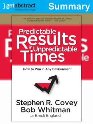 cover image of Predictable Results in Unpredictable Times (Summary)