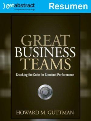 cover image of Grandes equipos de negocios (resumen)