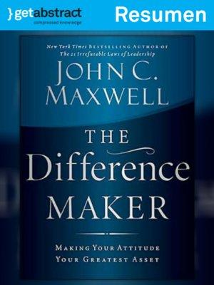 cover image of Lo que hace la diferencia (resumen)