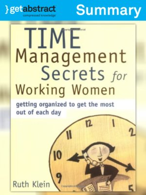cover image of Time Management Secrets for Working Women (Summary)