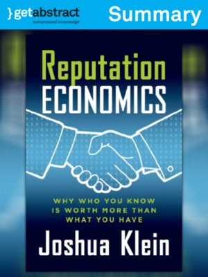 cover image of Reputation Economics (Summary)