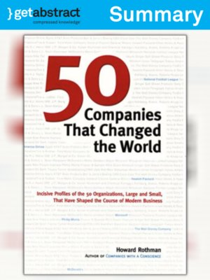 cover image of 50 Companies That Changed the World (Summary)
