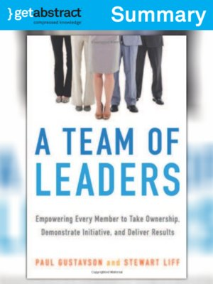 cover image of A Team of Leaders (Summary)