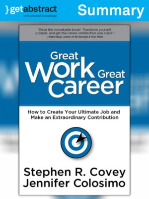 cover image of Great Work, Great Career (Summary)