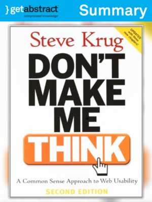 cover image of Don't Make Me Think (Summary)