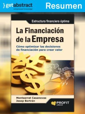 cover image of La financiación de la empresa (resumen)