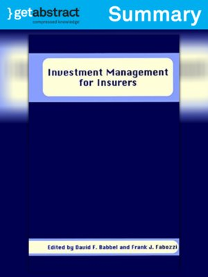 cover image of Investment Management for Insurers (Summary)