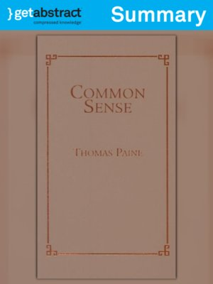 cover image of Common Sense (Summary)