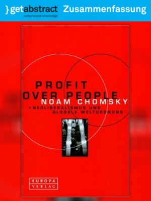 cover image of Profit Over People (Zusammenfassung)