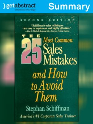 cover image of The 25 Most Common Sales Mistakes (Summary)