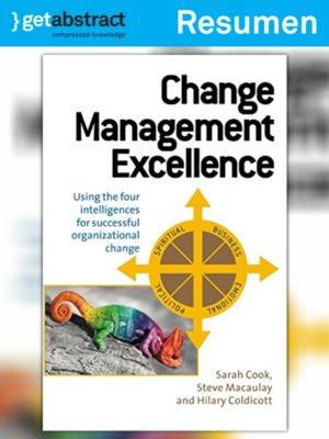 cover image of Excelencia en la administración del cambio (resumen)