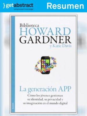 cover image of La generación app (resumen)
