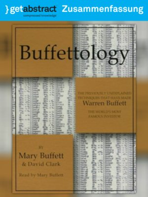 cover image of Buffettology (Zusammenfassung)
