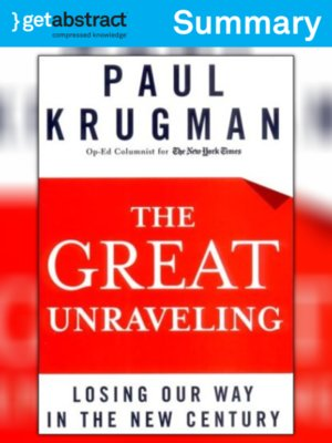 cover image of The Great Unraveling (Summary)