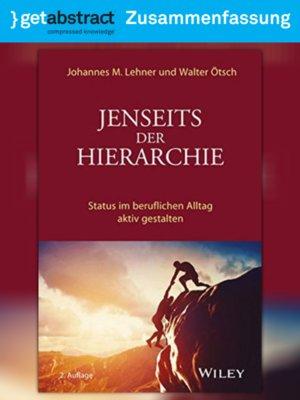 cover image of Jenseits der Hierarchie (Zusammenfassung)