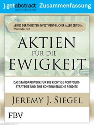 cover image of Aktien für die Ewigkeit (Zusammenfassung)