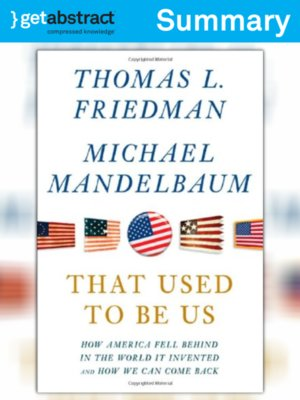 cover image of That Used to Be Us (Summary)