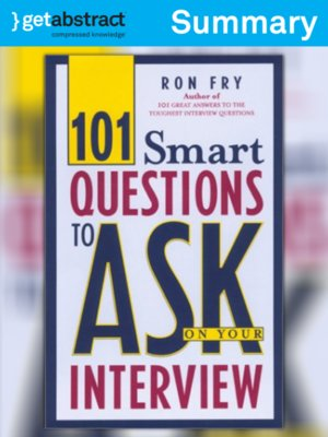 cover image of 101 Smart Questions to Ask on Your Interview (Summary)