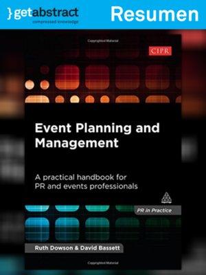 cover image of Gestión y planificación de eventos (resumen)