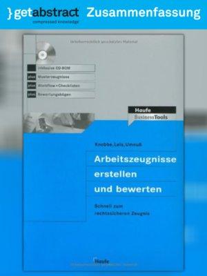 cover image of Arbeitszeugnisse erstellen und bewerten (Zusammenfassung)