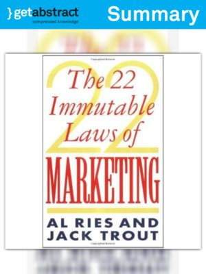 cover image of The 22 Immutable Laws of Marketing (Summary)