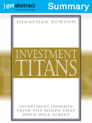 cover image of Investment Titans (Summary)