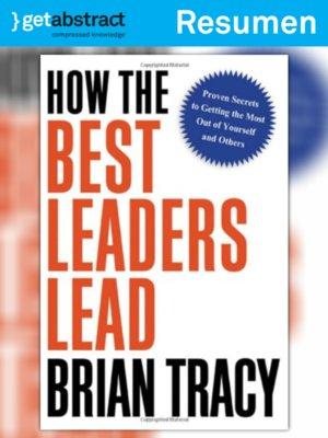 cover image of Liderazgo de los mejores líderes (resumen)