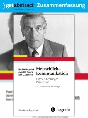 cover image of Menschliche Kommunikation (Zusammenfassung)