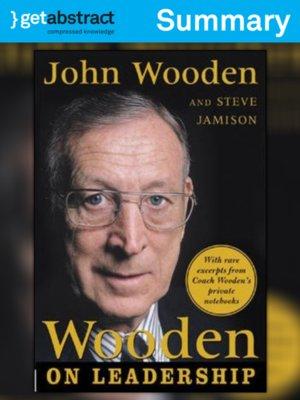 Wooden On Leadership Summary By John Wooden Overdrive Rakuten
