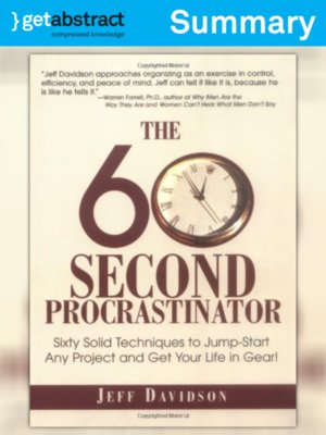 cover image of The 60-Second Procrastinator (Summary)