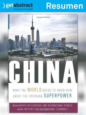 cover image of China: El balance general (resumen)