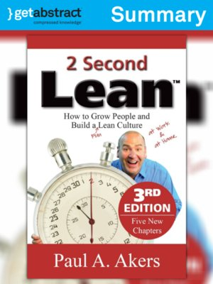 cover image of 2 Second Lean (Summary)