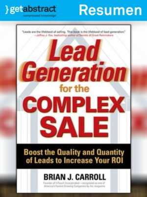 cover image of Generación de clientes potenciales para ventas complejas (resumen)