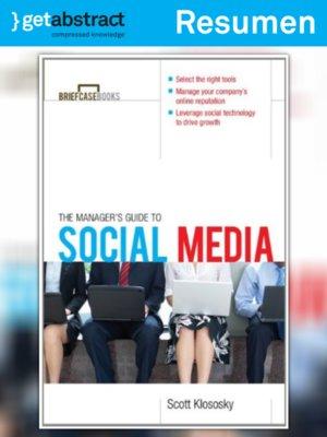 cover image of La guía del gerente para medios sociales (resumen)