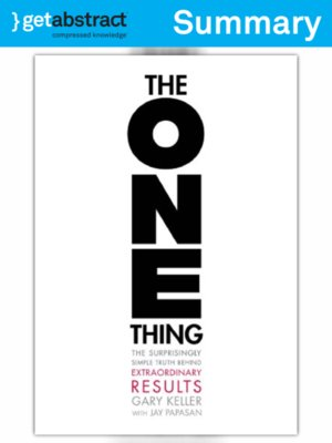 cover image of The One Thing (Summary)