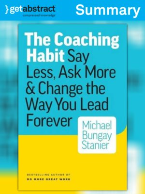 cover image of The Coaching Habit (Summary)