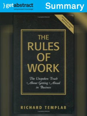 cover image of The Rules of Work (Summary)