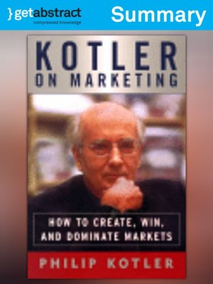 cover image of Kotler on Marketing (Summary)