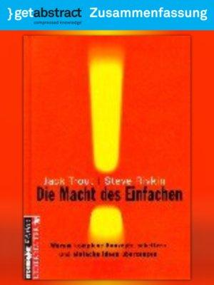 cover image of Die Macht des Einfachen (Zusammenfassung)