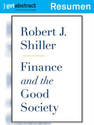 cover image of Las finanzas en una sociedad justa (resumen)
