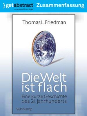 cover image of Die Welt ist flach (Zusammenfassung)