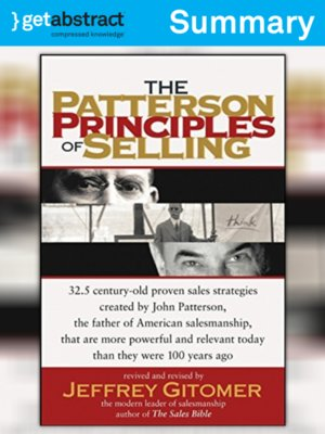 cover image of The Patterson Principles of Selling (Summary)