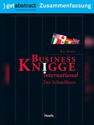 cover image of Business Knigge International (Zusammenfassung)