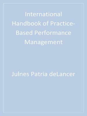 cover image of International Handbook of Practice-Based Performance Management