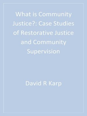 cover image of What is Community Justice?
