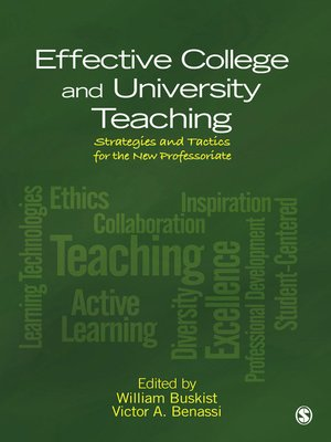 cover image of Effective College and University Teaching