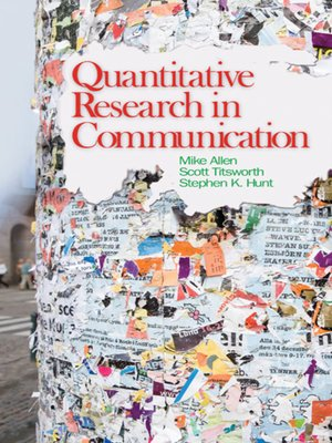 cover image of Quantitative Research in Communication
